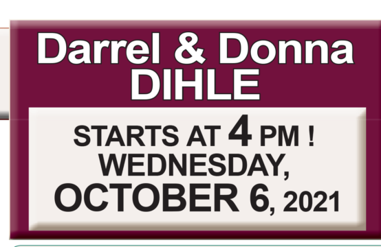 Darrell & Donna Dihle Auction 10-6-21