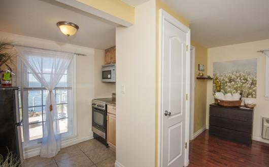 hallview of kitchen and bedroom