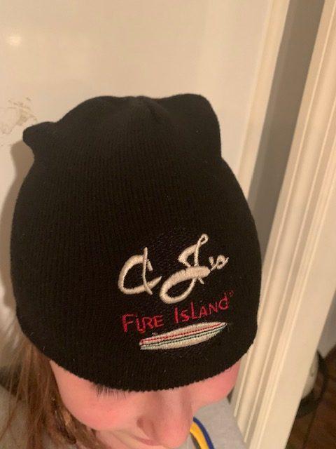 Cjs knit black hat
