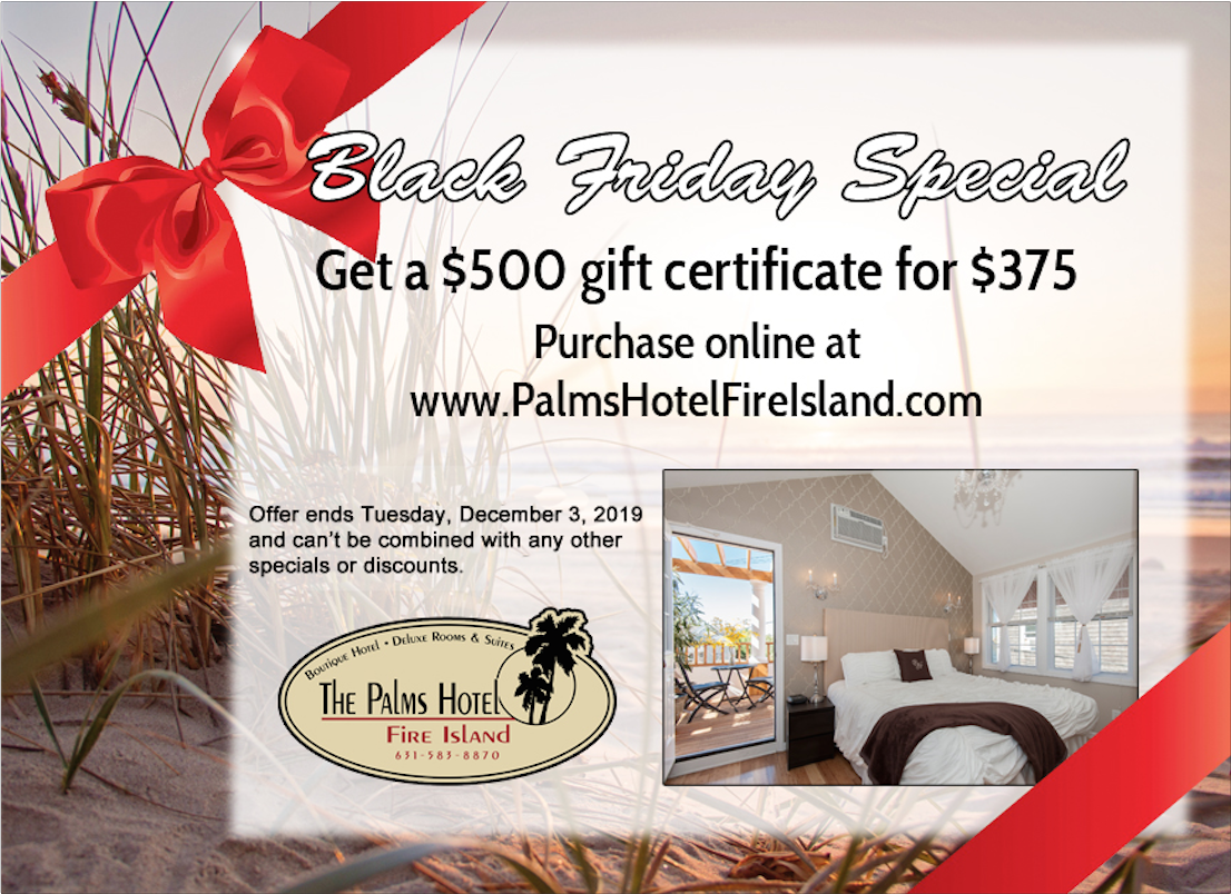 black friday sale $500 gift certificate for $375