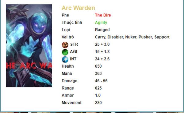 Thông số Arc Warden Dota