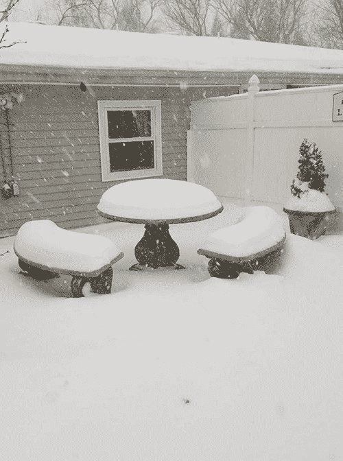 Concrete Table Snow