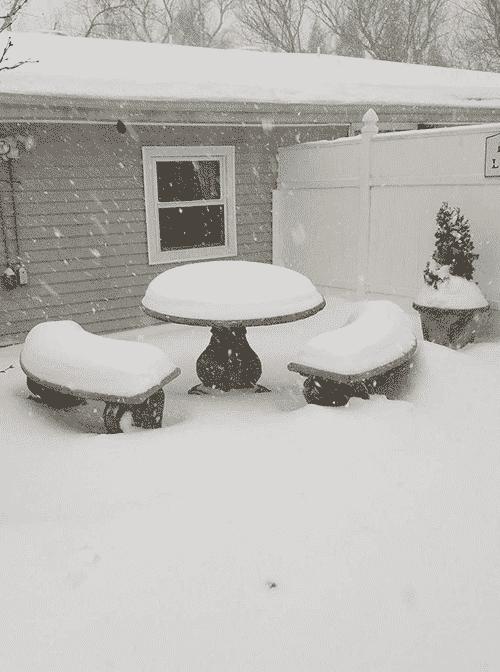 Concrete Table Snow