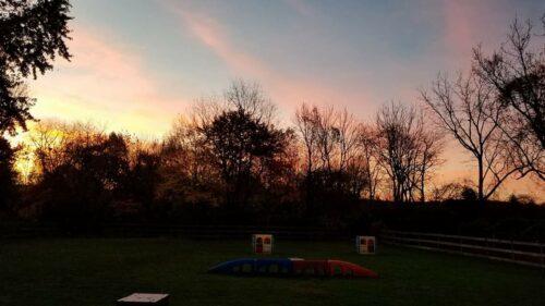 Sunset over Janry Pet Resort