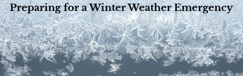 Preparing for a winter weather emergency