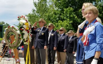 Families and friends honored fallen heroes from Alexandria, Virginia on Monday, May 30th at the 14th Annual Memorial Day Ceremony at the Captain Rocky Versace Plaza and Vietnam Veterans.