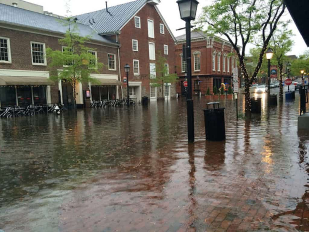The National Weather Service (NWS) has issued the following Flash Flood Warning for Alexandria, Virginia and the surrounding area from NOW until 10:00 PM TONIGHT (Monday, May 14, 2018).