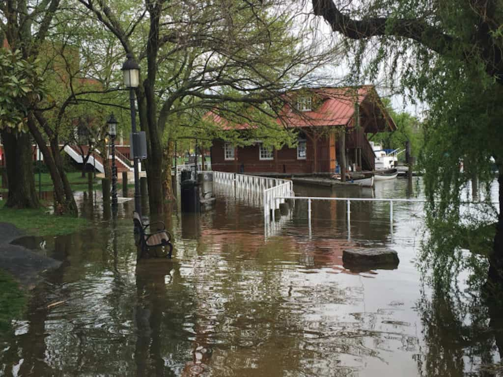 The National Weather Service (NWS) has issued a flood watch for the Washington, D.C. area including Alexandria, Virginia until Friday evening.