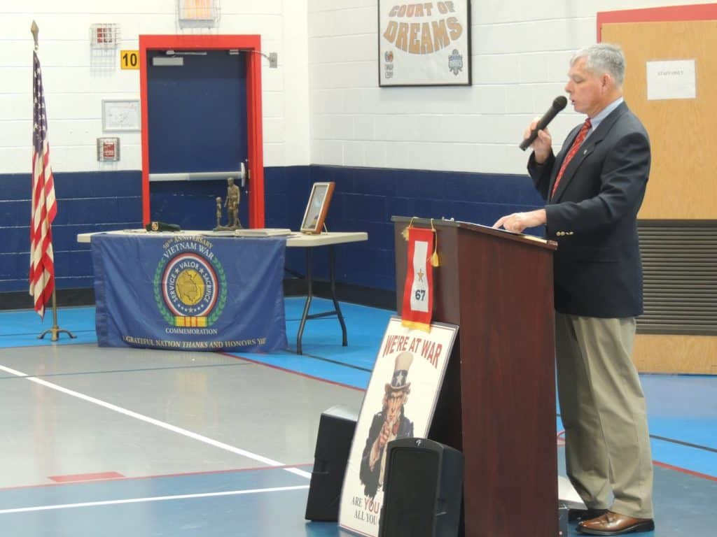 Families and friends honored fallen heroes from Alexandria, Virginia on Monday, May 30th at the annual Memorial Day Ceremony at Mount Vernon Recreation Center in honor of Captain Rocky Versace Plaza and other Alexandria veterans of the Vietnam War.