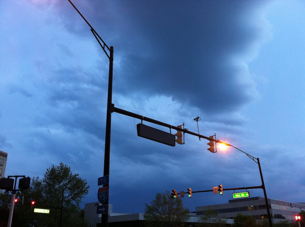 TheNational Weather Servicehas issued aSevere Thunderstorm Warningfor theCity of Alexandriauntil 11:00 p.m. TONIGHT (Sunday, May 13, 2018). The line of storms approaching our area is capable of producing damaging winds and hail and torrential downpours.