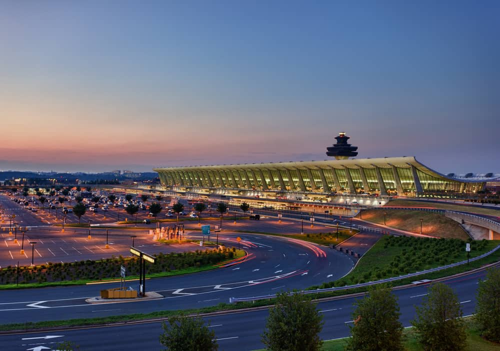 """Due to severe thunderstorms, both Ronald Reagan Washington National Airport and Dulles International Airportin the Washington, D.C. area are on a temporary """"ground stop"""" Monday evening, as imposed by the FAA."""