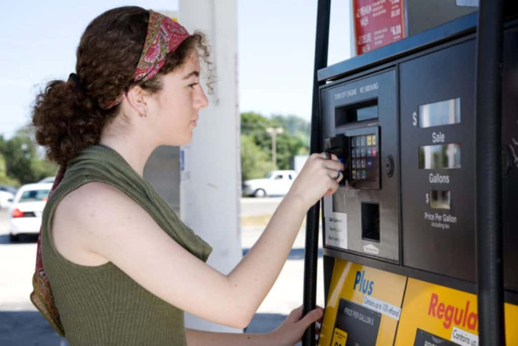 At $2.87, the national gas price average jumped six cents on the week in part due to the White House's decision to re-impose sanctions on Iran.