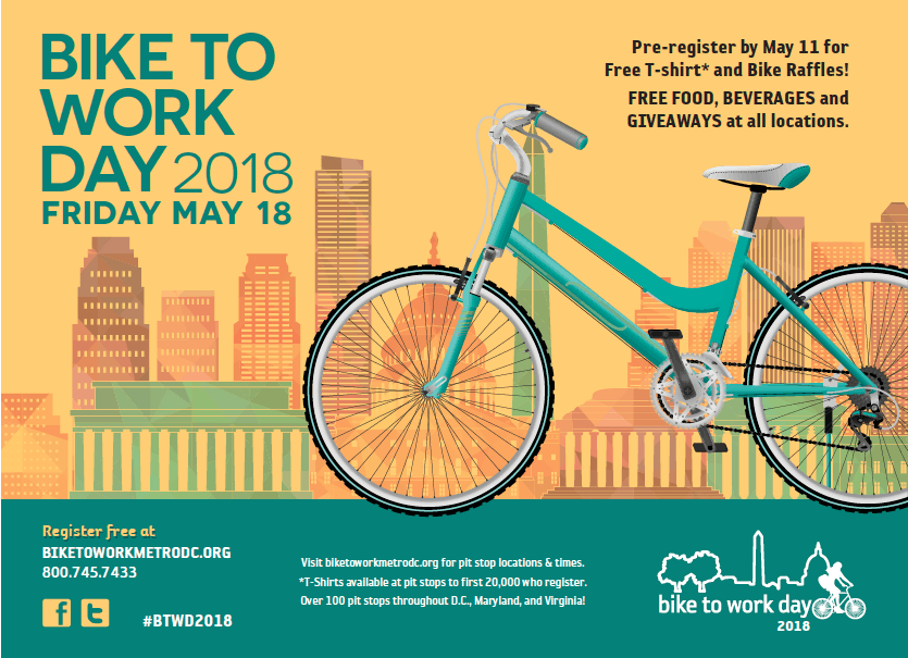 Alexandria residents will be among the thousands of area commuters who celebrate Bike to Work Day by cycling to work and participating in special events around Alexandria and throughout the region.