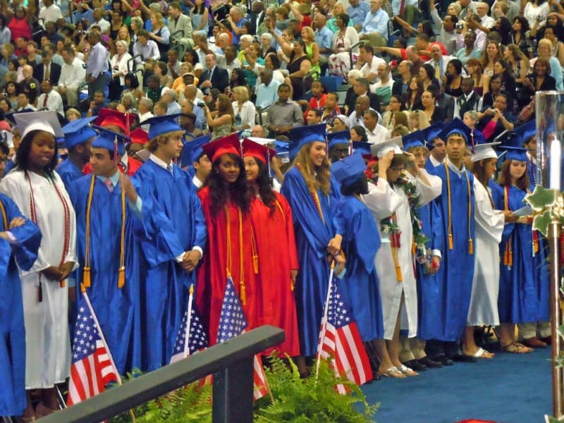 T.C. Williams High School is celebrating the graduation of 793 students on Saturday, June 16, 2018, one of the largest cohorts for a June graduation in the school's recent history.