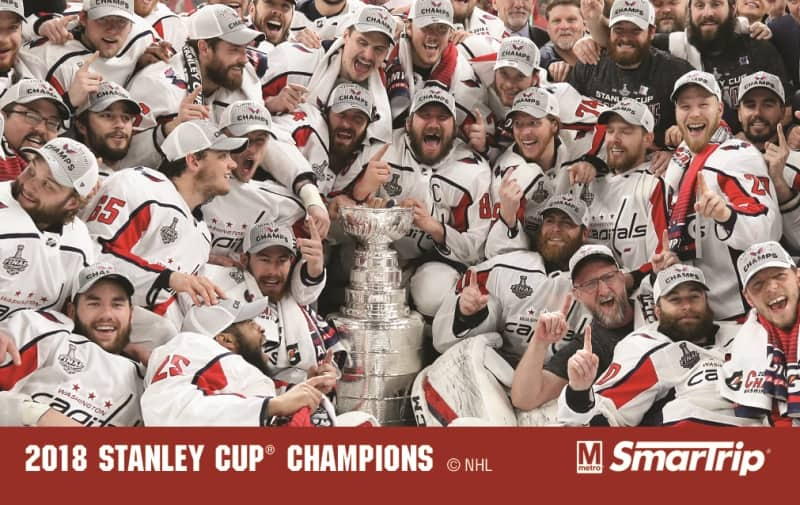 Metro is honoring the Washington Capitals with a limited-edition commemorative SmarTrip card for winning the Stanley Cup, the first in the Caps' 44-year history.