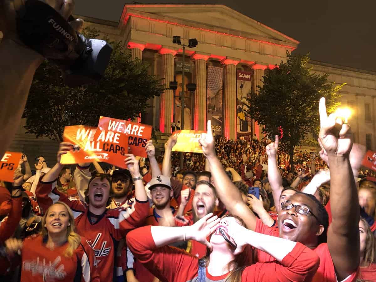 Fans attending the Caps Stanley Cup Game 4outdoor watch party at Farragut Squaretonight will be able to enter the Metrorail system at Farragut West and Farragut North stations during the extra hour of service, Metro announced today.