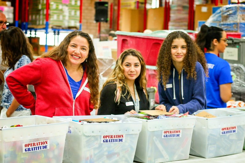 In the spirit of Martin Luther King Service Day, approximately 400 volunteers joined Operation Gratitude, to assemble 25,000 Care Packages at the DC Armory.
