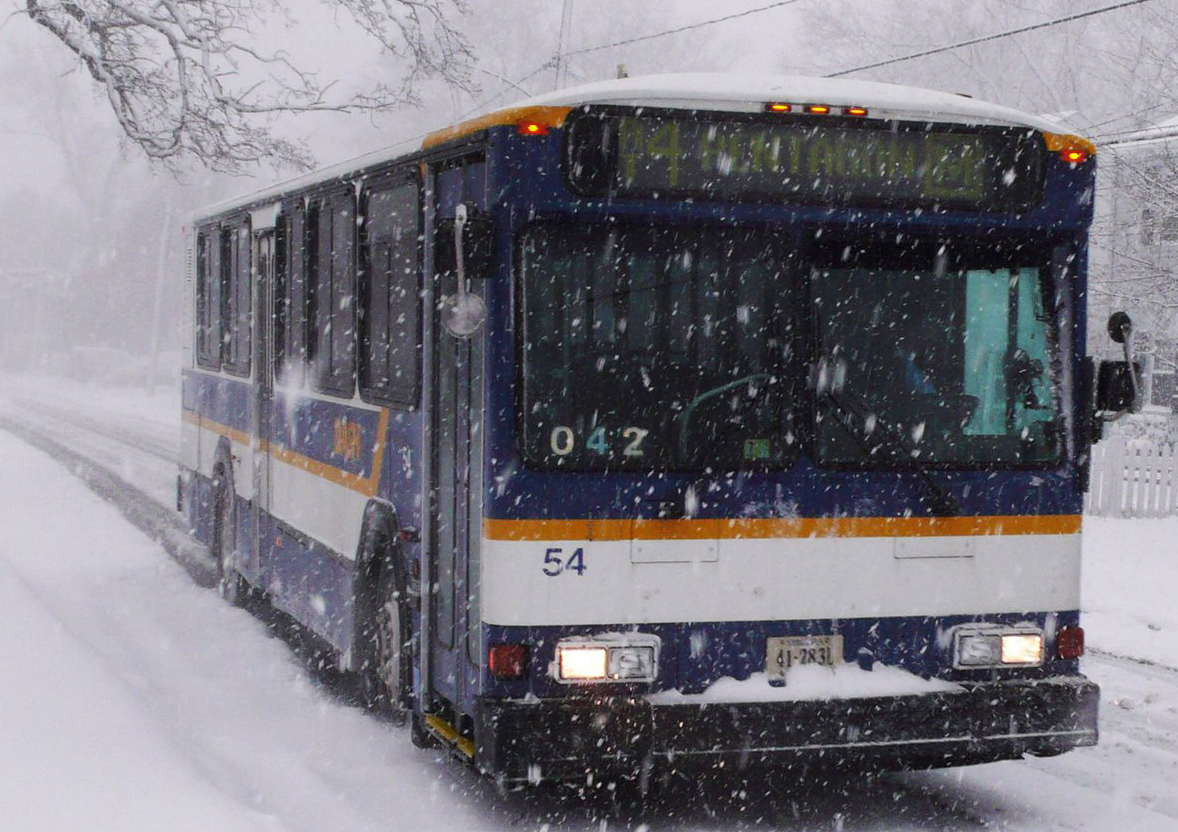 For the remainder of the evening during this weekend's winter storm, DASH Bus will operate on a snow emergency schedule in Alexandria, Virginia as routes and schedules can be affected by road and traffic conditions.