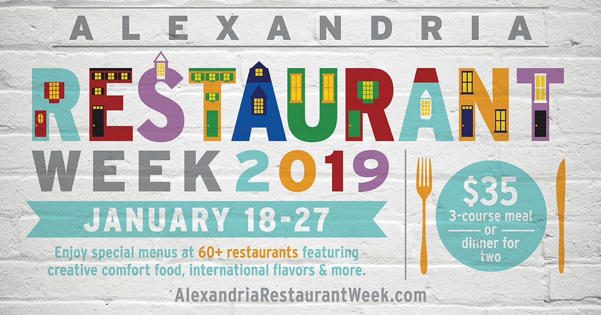 It's time to tantalize your taste buds once again during Winter Restaurant Week 2019 in Alexandria, Virginia (January 18-27, 2019)! Details on this year's event...
