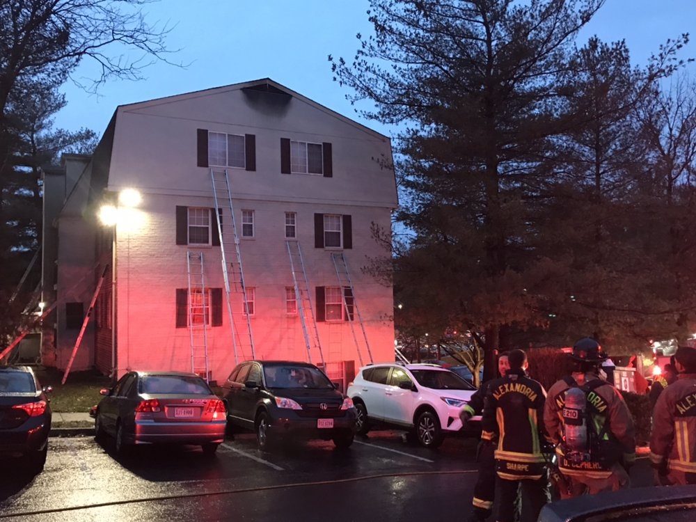 The Alexandria Fire Department responded to a residential building fire around 6:00 a.m. Sunday morning in the Seminary Valley neighborhood of Alexandria, Virginia.