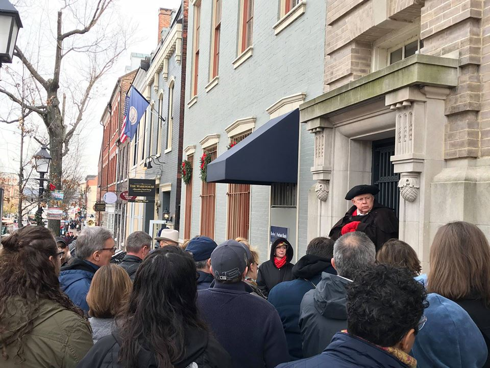 Check out this FREE tour of George Washington's hometown of Historic Old Town Alexandria, Virginia with the first President leading the way. Details... (Photo via Washington's Birthday Celebration on Facebook)