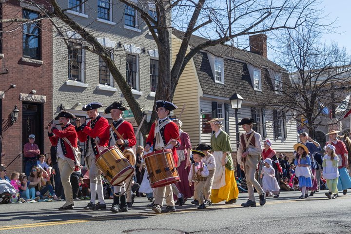 The nation's largest George Washington Birthday parade marches a one-mile route through the streets of Old Town Alexandria, Virginia on Monday, February 18, 2019, from 1:00 PM - 3:00 PM. (Courtesy Photo: Steve Muth)
