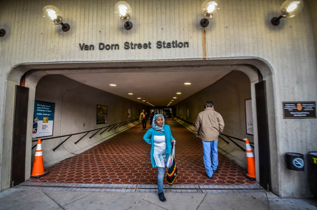 This past weekend, crews closed the existing bus loop at Van Dorn Metro Station and all buses will be relocated to temporary bus stops constructed in the Kiss & Ride lot.