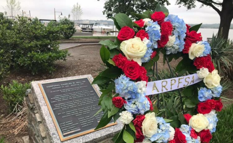 The Alexandria Police & Sheriff's Departments remembered the fallen in a wreath laying ceremony in Waterfront Park in Old Town Alexandria, Virginia.