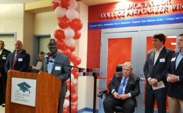 T.C. Williams High School College and Career Wing was renamed in honor of Jack Taylor for 25 years of generous donations to help students pay for college.