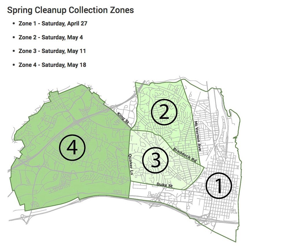 This week, the Rosemont area of Alexandria, Virginia is on tap for Spring Cleanup Day. The City will be picking up bulky items from curbs. Details...
