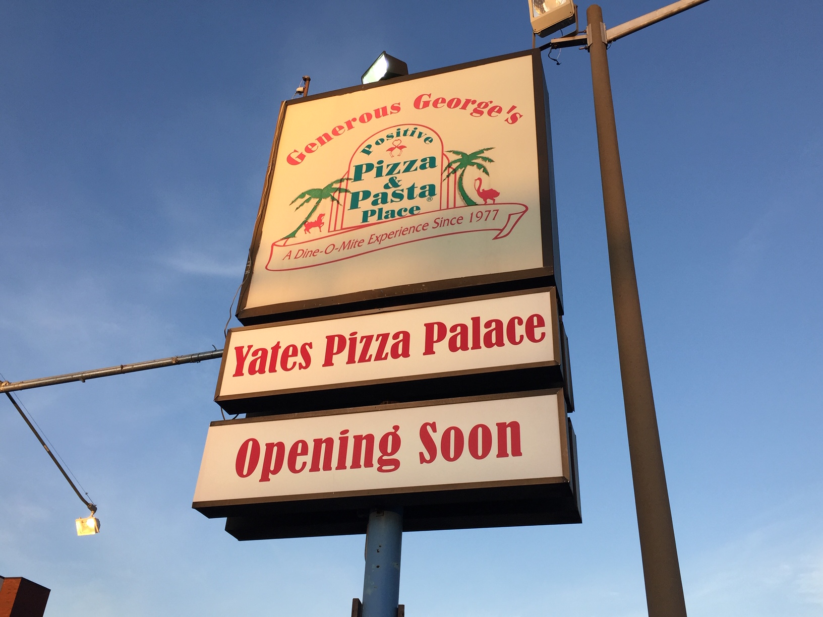 The long-awaited opening of Yates Pizza Palace on Duke Street in the Taylor Run area of Alexandria, Virginia is coming with new SUP approval by the City.