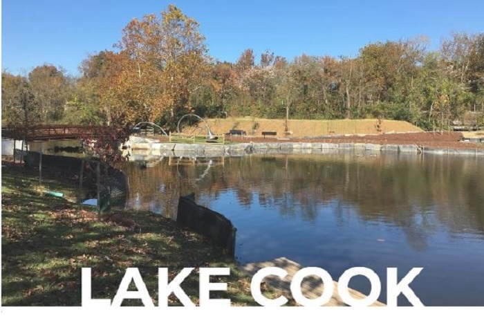The Alexandria City Council invites the public to a ribbon cutting ceremony to celebrate the renovation of Lake Cook in Alexandria, Virginia.