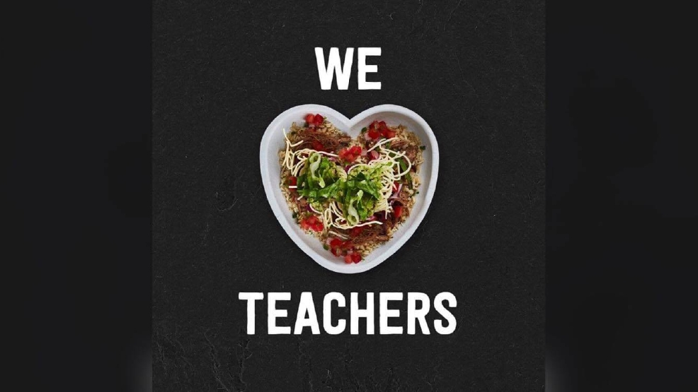Teachers change the lives of children every day, and some restaurants are honoring teachers with free meals, buy-one-get-one free deals and discounts.