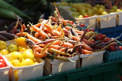 The West End Farmers' Market is on Sundays, May through October at Ben Brenman Park, located at 4800 Brenman Park Drive in Alexandria, Virginia. The market is open rain or shine.