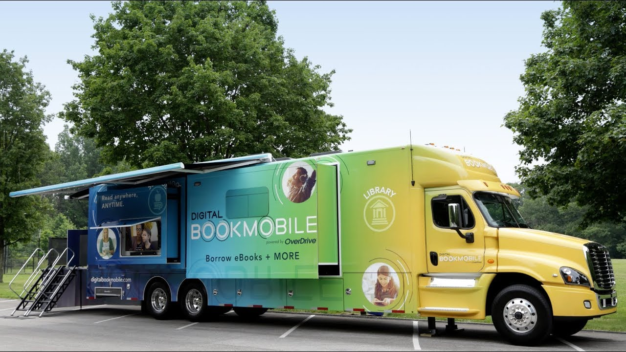The 42-foot long Digital Bookmobile will make a stop at Charles E. Beatley, Jr. Central Library in Alexandria, Virginia on Tuesday, May 28.