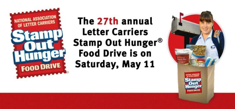 With the help of volunteers, the National Association of Letter Carriers will conduct its 27th annual Stamp Out Hunger Food Drive on Saturday, May 11.
