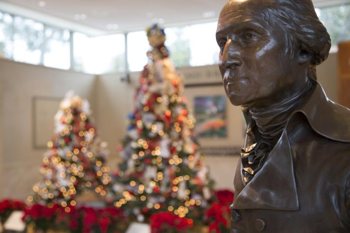Christmas past meets Christmas present as Holiday programs and tours fill each day with delight at George Washington's Mount Vernon.