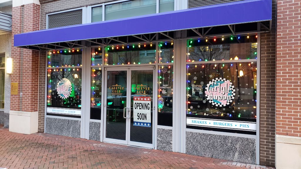 Located next to the Carlyle Club at Courthouse Square and Ballenger Avenue, sources tell us the Carlyle Diner will be opening soon in the Carlyle neighborhood of Alexandria, Virginia.