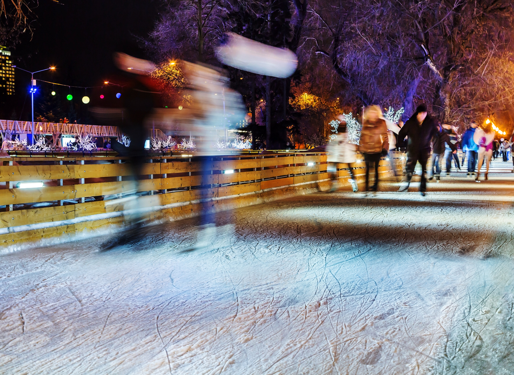 Lace-up your ice skates and triple axel in 2020 at The Winter Village at Cameron Run Regional Park in Alexandria, Virginia.
