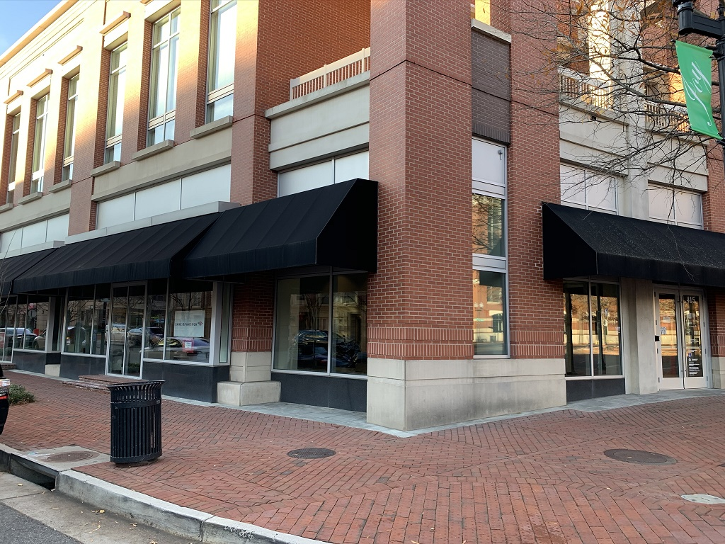 Officials with the Bank of America opened a new financial center in the Carlyle neighborhood of Alexandria, Virginia at 415 John Carlyle Street in December 2019.