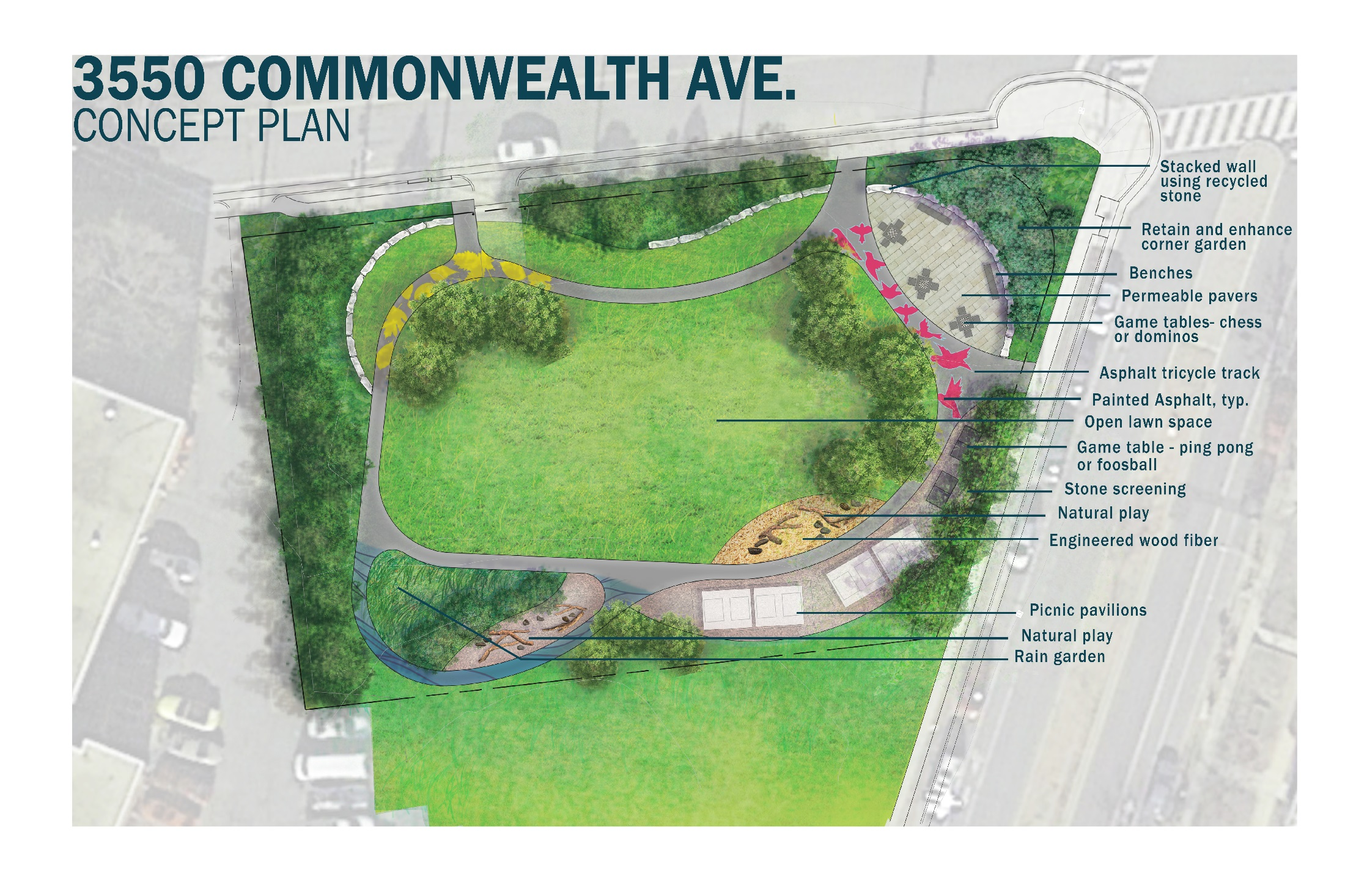 The City of Alexandria is soliciting feedback on the name of the park at 3550 Commonwealth Avenue in the Arlandria neighborhood of Alexandria, Virginia.