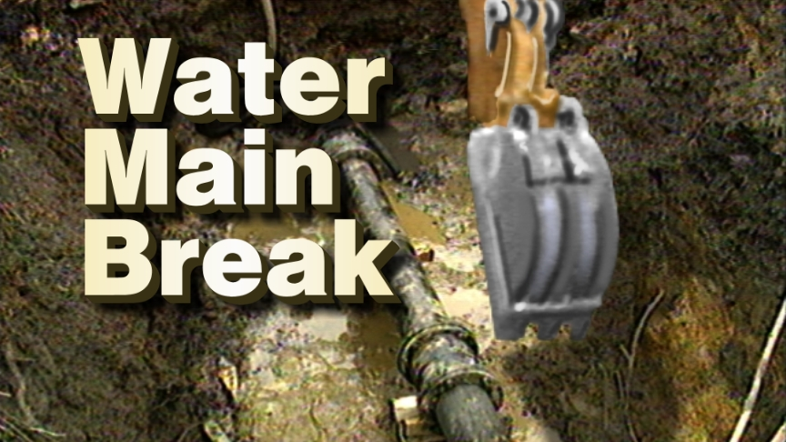 There is a water main break that occurred this morning (January 2, 2020) on Duke Street between Quaker Lane and Sweeley Street in the Taylor Run area of Alexandria, Virginia.