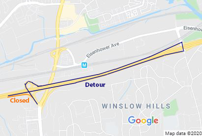 Traffic will be detoured via eastbound I-495, the northbound Eisenhower Avenue Connector (Exit 174), and westbound I-495 back to Van Dorn Street.
