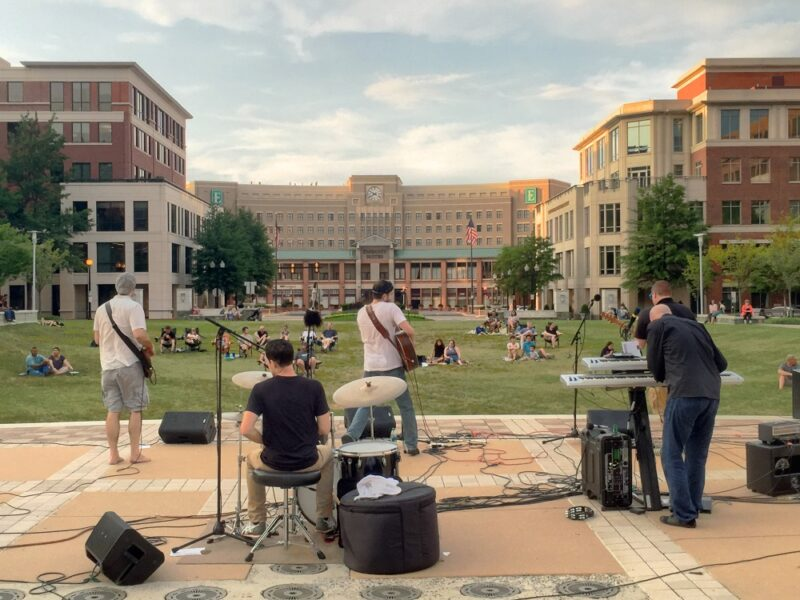 The Carlyle Vitality Initiative is hosting a series of outdoor concerts at John Carlyle Square Park in the Carlyle neighborhood of Alexandria, Virginia.