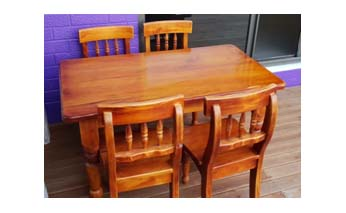 Kidults Dining Table + 4 Chairs