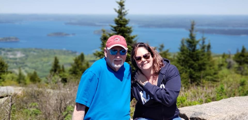 Me and My Daddy in Acadia National Park