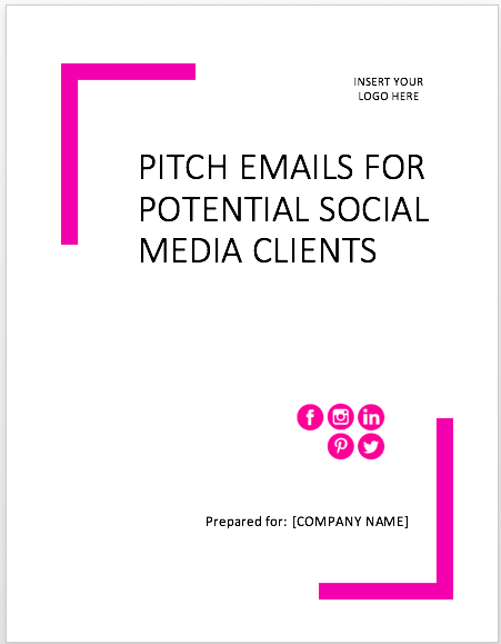 pitch template for social media clients
