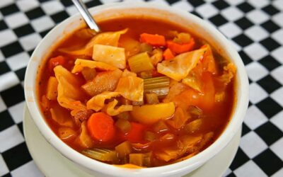 Hot Cabbage Borscht Soup