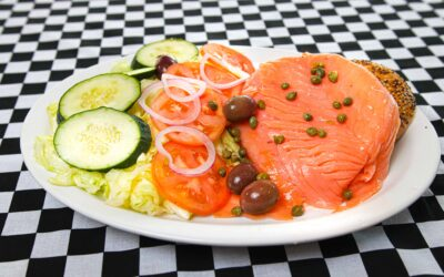 Fish Platter with Sliced Nova Lox