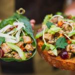 Chicken Salad Tartine and Wrap